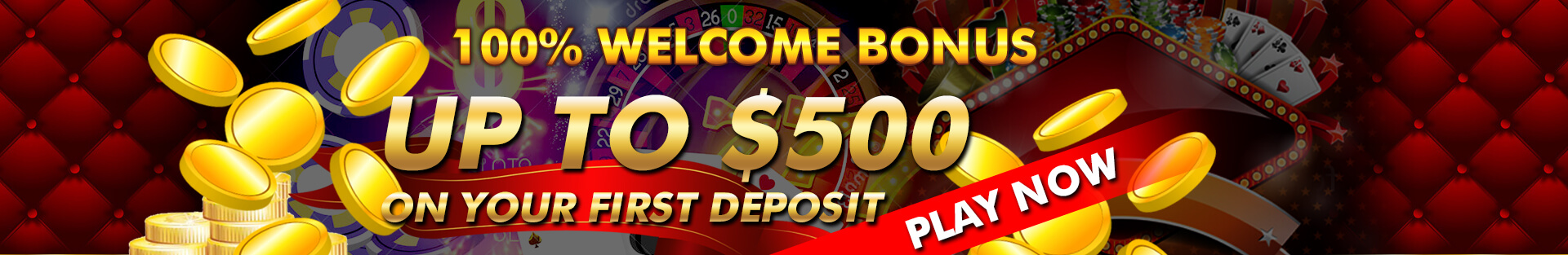 100% deposit bonus up to $500!