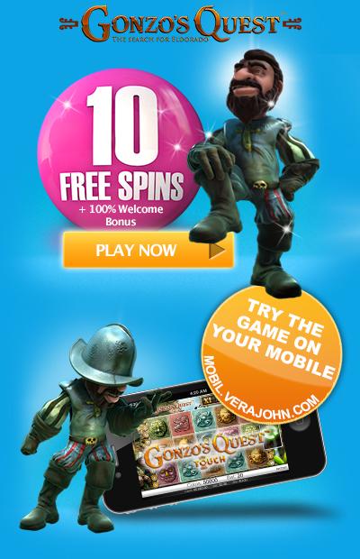 10 free spins waiting for you at Vera&John Casino!